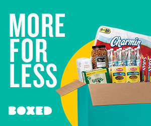 Save money with the Boxed online warehouse store!