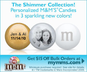 Personalized M&M�S� Wedding Favors - $15 off offer