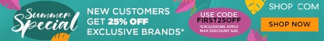 SHOP.COM - New Customers get 25% OFF our exclusive brands with code FIRST25OFF.