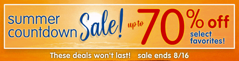 SUMMER COUNTDOWN SALE! Save Up To 70% On Select Favorites! Get Free Shipping On Orders $33 +