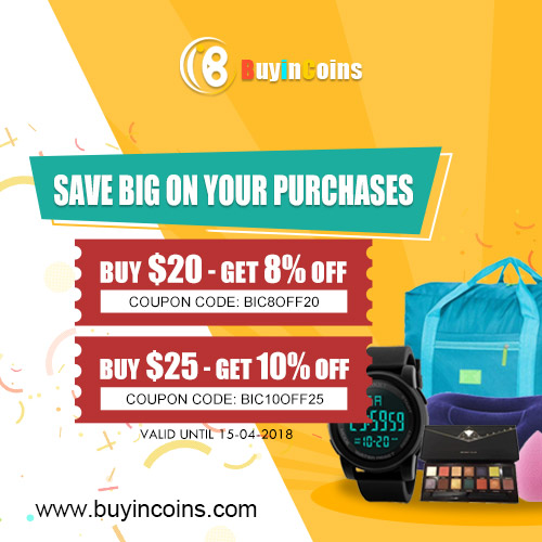Get More Discount For Your Items - Buy $20 - Get 8% OFF