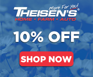 10% Off at Theisens.com