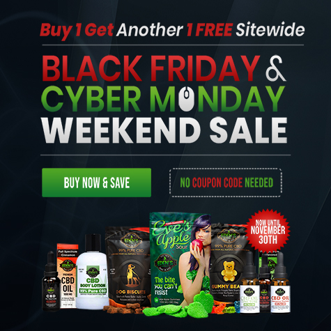 Banner announcing Eden's Herbals Black Friday/Cyber Monday Sale Banner Buy 1 Get Another 1 Free Site