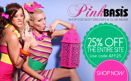 Save 25% off site wide at PinkBasis.com! Enter code AFF25 at checkout.