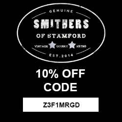 Receive 10% off all full priced items when you place your first order at Smithers of Stamford.