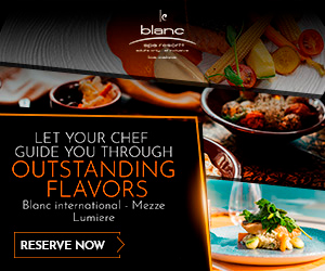 Enjoy at Le Blanc Los Cabos Blanc International Cousine, Meeze, Lumiere and more.
