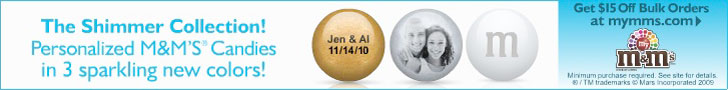Personalized M&M�S� Wedding Favors