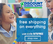 FREE SHIPPING ON EVERYTHING For Back To School At Discount School Supply! Use Code: BTSFREE