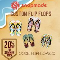 Snapmade 2015 - Custom Flip Flops 20% Off Deals - 200*200