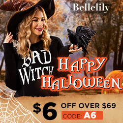 $6 OFF orders over $69 for Halloween Day Sale!