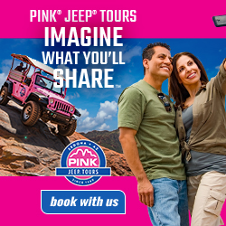 A great way to see the incredible topography around Sedona is on a 4x4 ride adventure ... seen here on a Pink Jeep Tour