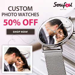 Unique, Personalized!  Soufeel Custom Photo Watch is now 50% OFF!  Limited Time Offer at Soufeel.com