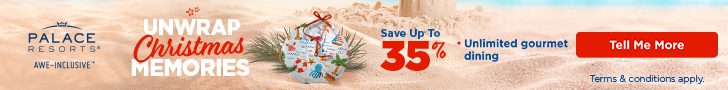 6th night free. Make up for missed travel. Up to 30% off all-inclusive luxury at Palace Resorts.