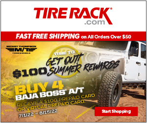 Tire Rack Rebates August 2018 - Get Up to a $100 General Tire Visa Prepaid Card.