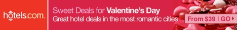 Sweet Hotel Deals for Valentines Day!