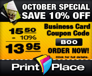 10% off Business Cards in October