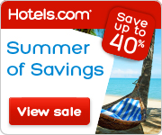 Summer of Savings! Save up to 40%! Book by 8/4/14, Travel by 8/18/14
