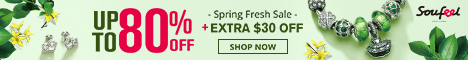 Spring Fresh Sale Up to 80% OFF + Extra $30 OFF at Soufeel.com