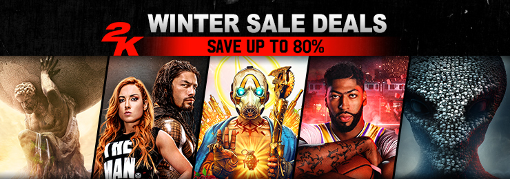 GamersGate - Winter Sale Deals: Save Up To 80% on 2K Games