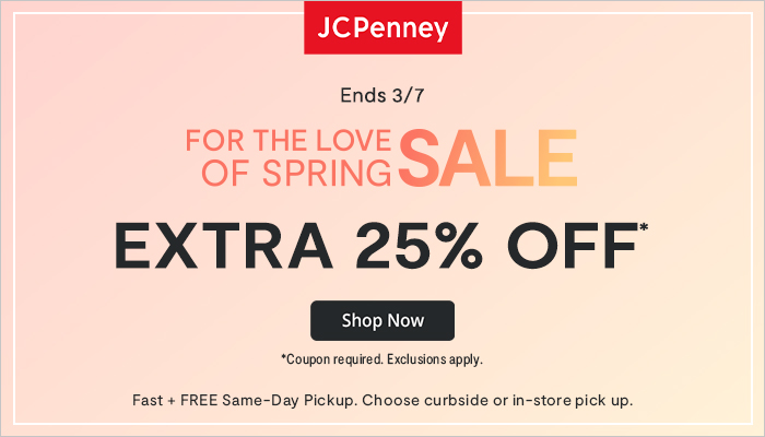 Shop The JCPenney for The Love of Spring Sale (+ Extra 25% off with Code!)