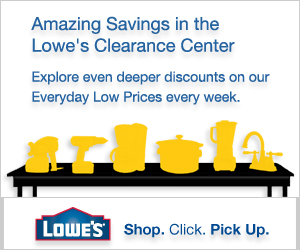 Amazing Savings in the Lowe's Clearance Center