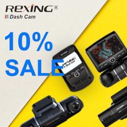 【SALE】Rexing Dual Channel Dash Cam