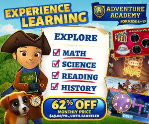 AdventureAcademy.com -Get 1 Year for $45!</