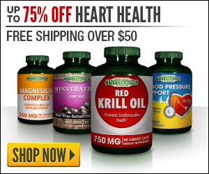 75% Off 300x250 Heart Health Banner