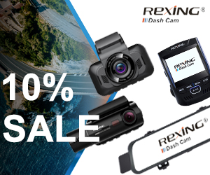 Save 10% Off On Rexing Dash Cameras