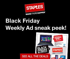 Staples Black Friday Weekly Ad Sneak Peek - See all the deals