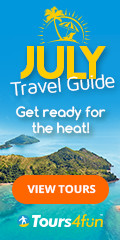 Get Ready for the Heat! Check out Tours4Fun July Travel Guide!