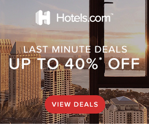 Hotels.com Promo Code - save up to 40% on last minute deals