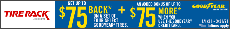 Get Up to $120* when you bundle purchases of at least 2 new MICHELIN or BFGoodrich® tires.