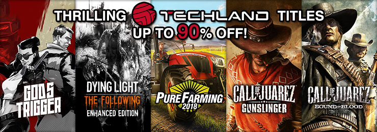 GamersGate - Thrilling Techland Save Upto 90% OFF