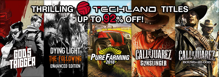 GamersGate - Thrilling Techland Save Up To 92% OFF