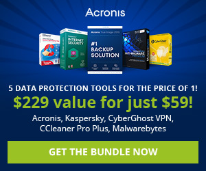 Acronis True Image 2016 Performance, Protection, Privacy Bundle