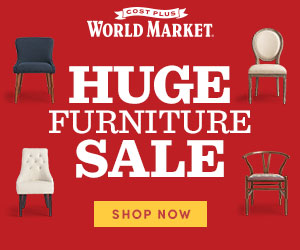 Huge Furniture Sale - Up to 50% Off at World Market! Save an additional 10% with code SAVEBIG10