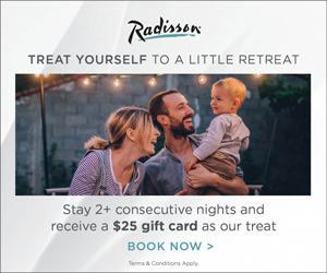 Weekend radisson hotel 20% promo code