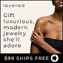 SHOP.COM  - Give Layered Jewelry for Valentine's Day