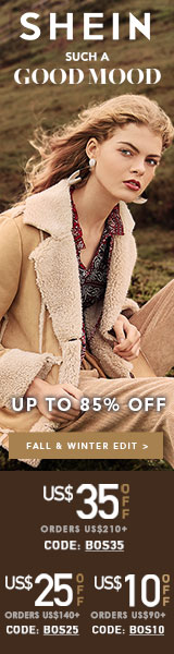 SUCH A GOOD MOOD at Shein.com! Right now get $35 off orders of $210 with Code BOS35 Offer ends 10/29