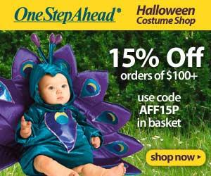 Halloween Costume Shop! 15% off orders of $100+