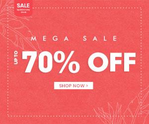 MEGA SALE UP TO 70% OFF