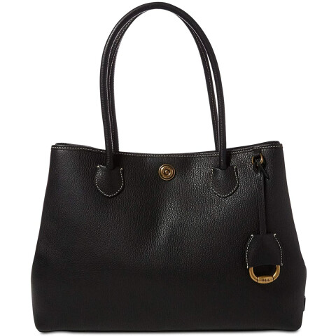 Lauren Ralph Women's Millbrook Market Leather Tote