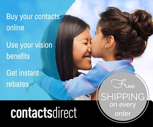 Buy your contacts online, use your vision benefits, and get instant rebates at ContactsDirect.com.