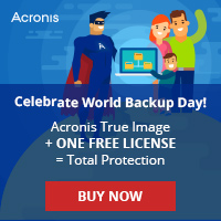 Buy any version of Acronis True Image and get a FREE Acronis True Image 2016 License