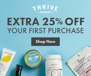 20% Your First Thrive Market Order