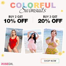 Colorful Swimwears-Buy 2 Get 10% Off,Buy 3 Get 20% Off
