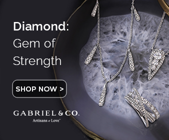 April Birthstone Diamond Fine Jewelry Banner