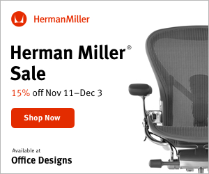 Image for Save 15% off + free shipping during the Herman Miller Holiday Sale! (Valid 11/11/19 - 12/3/19)