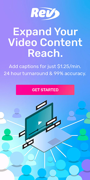 Want to expand your video reach? Add captions for just $1.25/min. 24 hour turnaround & 99% accuracy